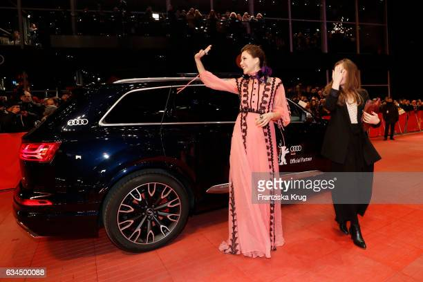 Maggie Gylenhaal attends the 'Django' premiere during the 67th Berlinale International Film Festival Berlin at Berlinale Palace on February 9 2017 in...