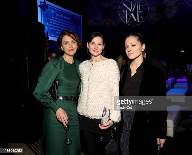 Maggie Gylenhaal Heather Burns and Margarita Levieva attend Ovarian Cancer Research Alliance Presents Style Lab hosted by Maggie Gyllenhaal Kate Mara...