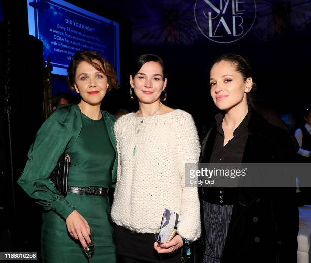 Maggie Gylenhaal, Heather Burns, and Margarita Levieva attend Ovarian Cancer Research Alliance Presents Style Lab hosted by Maggie Gyllenhaal & Kate...