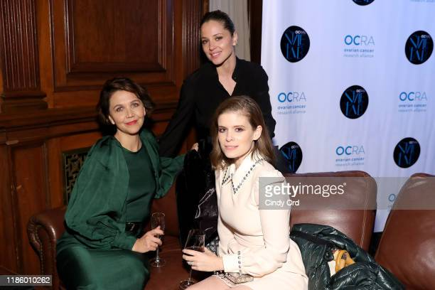 Maggie Gylenhaal Margarita Levieva and Kate Mara at the Ovarian Cancer Research Alliance Presents Style Lab hosted by Maggie Gyllenhaal Kate Mara at...