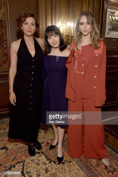 Maggie Gyllenhaal ADEAM Founder and Creative Director Hanako Maeda and Suki Waterhouse attend the Adeam Spring/Summer 2020 Dinner on September 07...