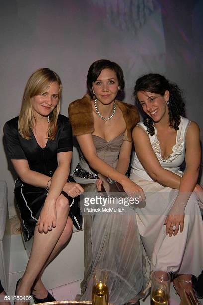 Maggie Gyllenhaal and attend Vanity Fair Oscar Party at Morton's Restaurant on February 27 2005 in Los Angeles California