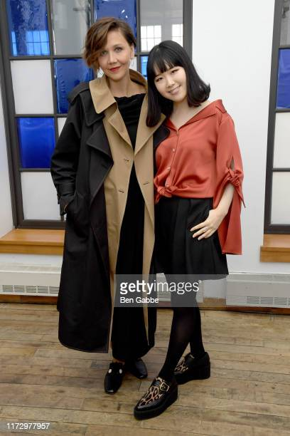 Maggie Gyllenhaal and Designer Hanako Maeda attend the Adeam Spring/Summer 2020 Show at West Edge on September 07 2019 in New York City