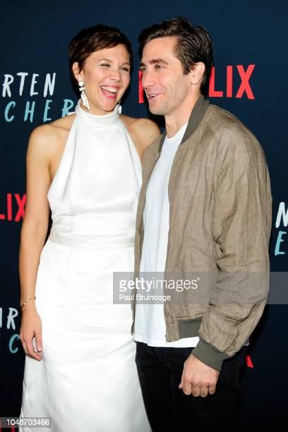 "Maggie Gyllenhaal and Jake Gyllenhaal attend Netflix Special Screening Of ""The Kindergarten Teacher at Crosby Street Hotel on October 9, 2018 in New..."