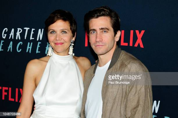 "Maggie Gyllenhaal and Jake Gyllenhaal attend Netflix Special Screening Of ""The Kindergarten Teacher at Crosby Street Hotel on October 9, 2018 in New..."