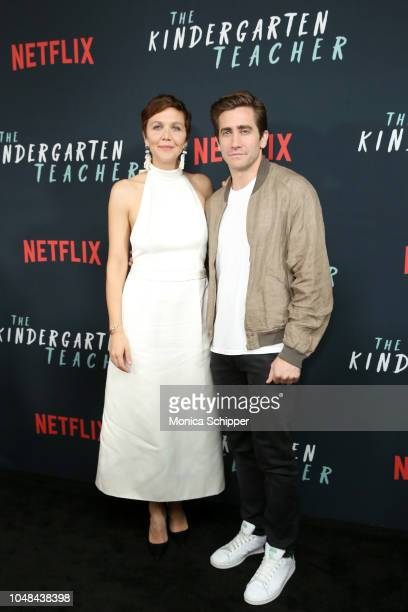 Maggie Gyllenhaal and Jake Gyllenhaal attend the NY Special Screening of Netflix's 'The Kindergarten Teacher at Crosby Street Hotel on October 9 2018...