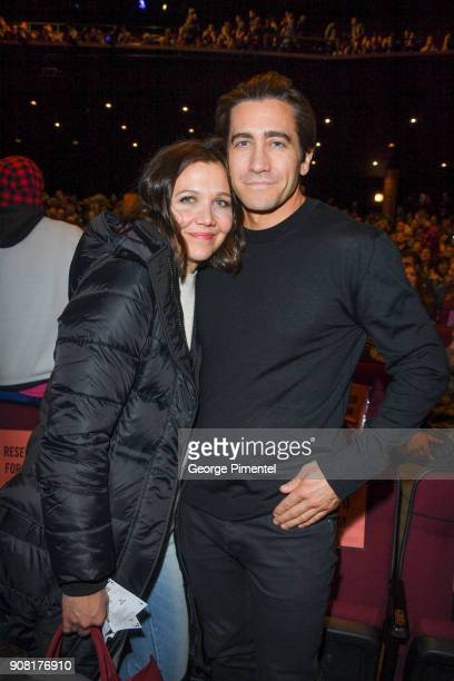 Maggie Gyllenhaal and Jake Gyllenhaal attend the 'Wildlife' Premiere during the 2018 Sundance Film Festival at Eccles Center Theatre on January 20...