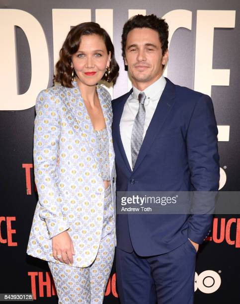 Maggie Gyllenhaal and James Franco attend The Deuce New York premiere at SVA Theater on September 7 2017 in New York City