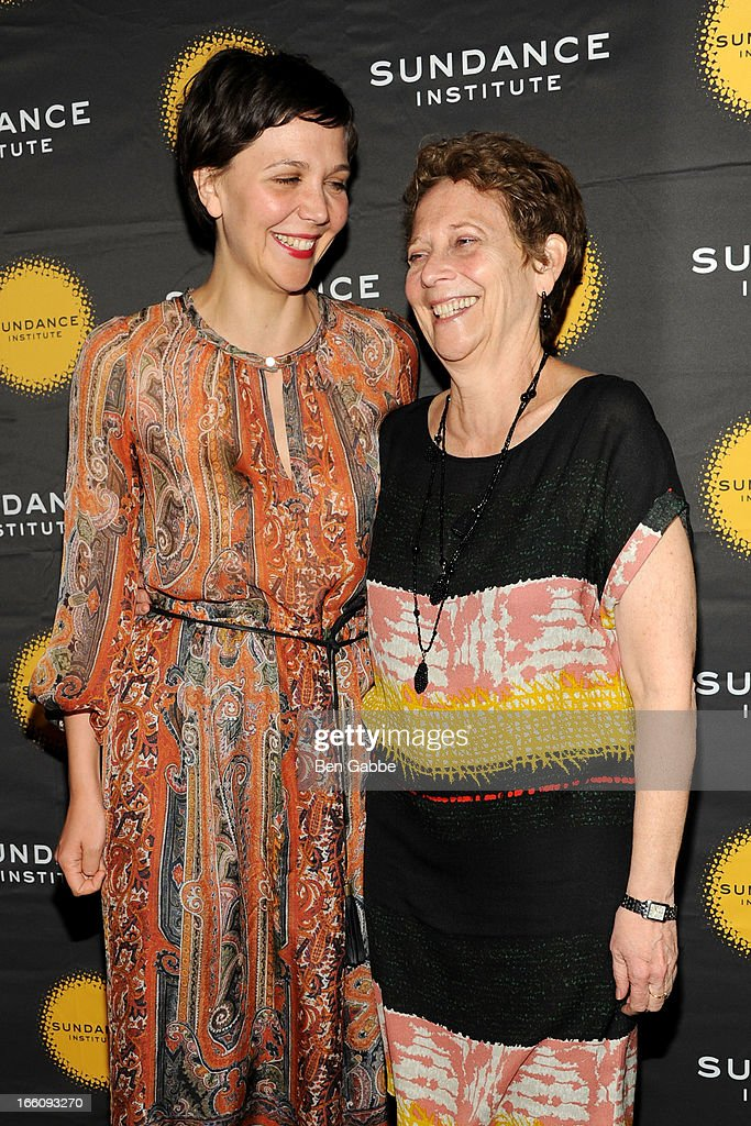 Maggie Gyllenhaal and mother Naomi Foner Gyllenhaal attend the 2013 Sundance Institute Theatre Program Benefit at Stephen Weiss Studio on April 8, 2013 in New York City.