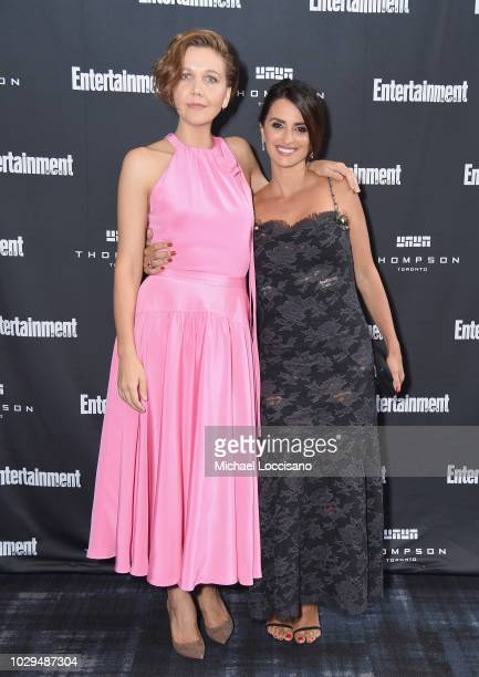 Maggie Gyllenhaal and Penelope Cruz attend Entertainment Weekly's Must List Party at the Toronto International Film Festival 2018 at the Thompson...