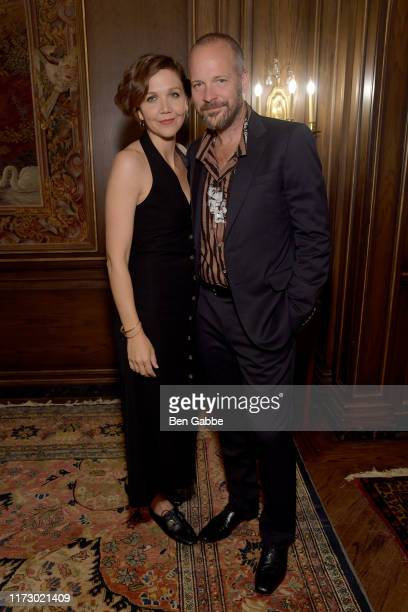 Maggie Gyllenhaal and Peter Saarsgard attend the Adeam Spring/Summer 2020 Dinner on September 07 2019 in New York City