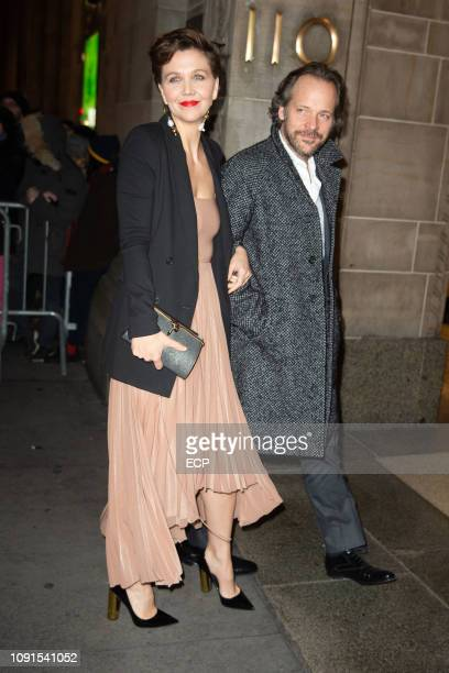 Maggie Gyllenhaal and Peter Sarsgaard at the 2019 National Board of Review Awards Gala on January 8 2019 in New York City