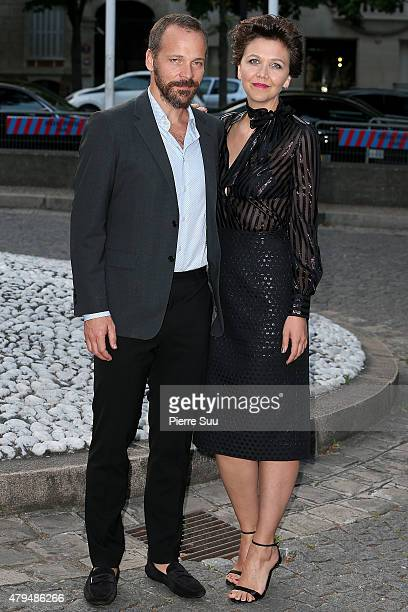 Maggie Gyllenhaal and Peter Sarsgaard attend Miu Miu Club Launch of the First Miu Miu Fragrance andCroisiere 2016 Collection at Palais d'Iena on July...
