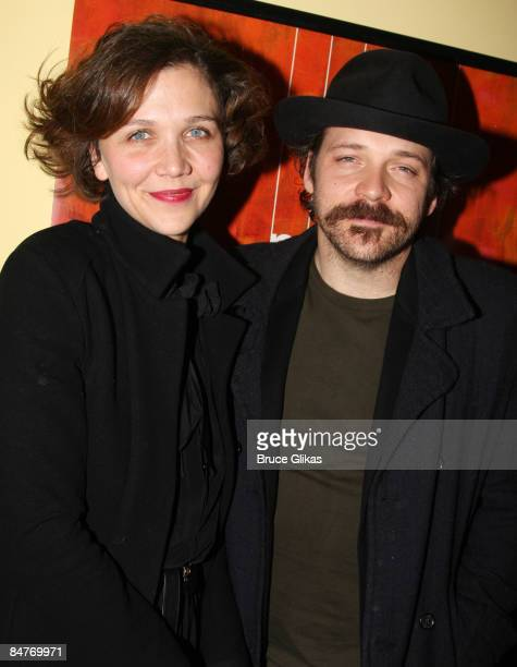Maggie Gyllenhaal and Peter Sarsgaard attend the after party for the offbroadway opening night of Uncle Vanya at Pangea on February 12 2009 in New...