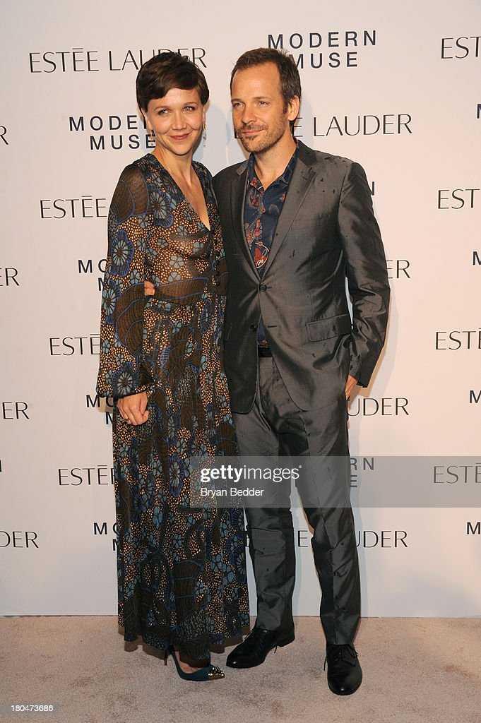 Maggie Gyllenhaal and Peter Sarsgaard attend the Estee Lauder 'Modern Muse' Fragrance Launch Party at the Guggenheim Museum on September 12, 2013 in New York City.
