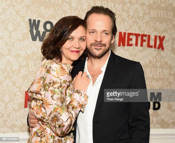Maggie Gyllenhaal and Peter Sarsgaard attend the Wormwood New York Premiere on December 12 2017 in New York City