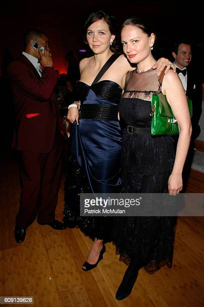 Maggie Gyllenhaal and Yelena Yemchuk attend VANITY FAIR Oscar Party at Morton's on February 25 2007 in Los Angeles CA