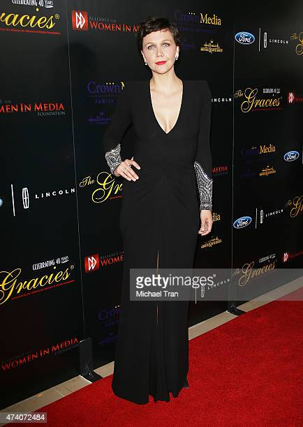 Maggie Gyllenhaal arrives at the 40th Anniversary Gracies Awards held at The Beverly Hilton Hotel on May 19 2015 in Beverly Hills California