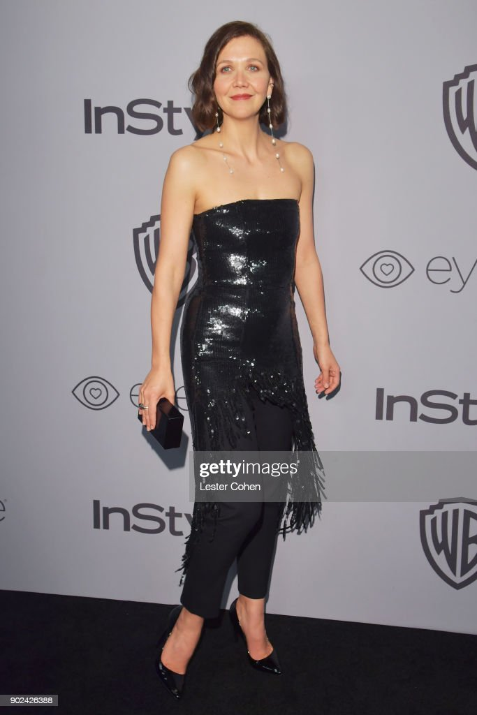 Maggie Gyllenhaal attends 19th Annual Post-Golden Globes Party hosted by Warner Bros. Pictures and InStyle at The Beverly Hilton Hotel on January 7, 2018 in Beverly Hills, California.