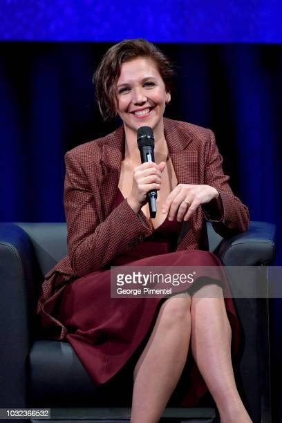 Maggie Gyllenhaal attends In Conversation WithMaggie Gyllenhaal during 2018 Toronto International Film Festival at Glenn Gould Studio at CBC on...