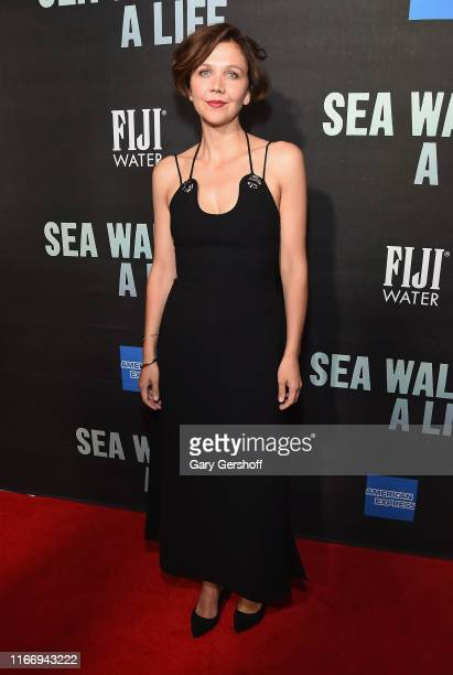 """Maggie Gyllenhaal attends """"Sea Wall / A Life"""" Broadway Opening Night at The Hudson Theatre on August 08, 2019 in New York City."""
