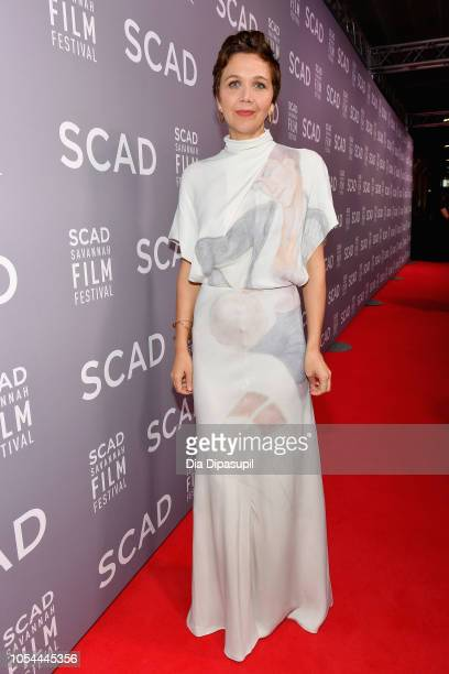 Maggie Gyllenhaal attends the 21st SCAD Savannah Film Festival opening night on October 27 2018 in Savannah Georgia