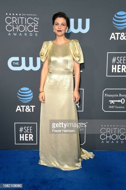 Maggie Gyllenhaal attends the 24th annual Critics' Choice Awards at Barker Hangar on January 13 2019 in Santa Monica California