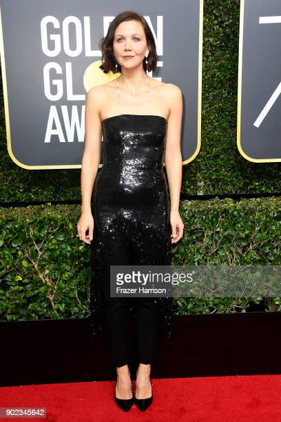 Maggie Gyllenhaal attends The 75th Annual Golden Globe Awards at The Beverly Hilton Hotel on January 7 2018 in Beverly Hills California