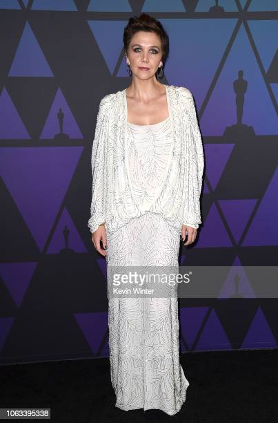 Maggie Gyllenhaal attends the Academy of Motion Picture Arts and Sciences' 10th annual Governors Awards at The Ray Dolby Ballroom at Hollywood...