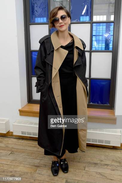 Maggie Gyllenhaal attends the Adeam Spring/Summer 2020 Show at West Edge on September 07 2019 in New York City
