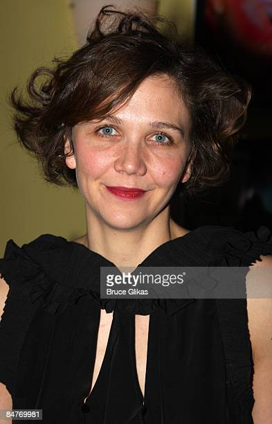 Maggie Gyllenhaal attends the after party for the offbroadway opening night of Uncle Vanya at Pangea on February 12 2009 in New York City
