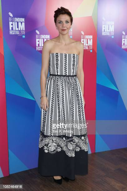 Maggie Gyllenhaal attends the European Premiere of The Kindergarten Teacher at the 62nd BFI London Film Festival on October 18 2018 in London England