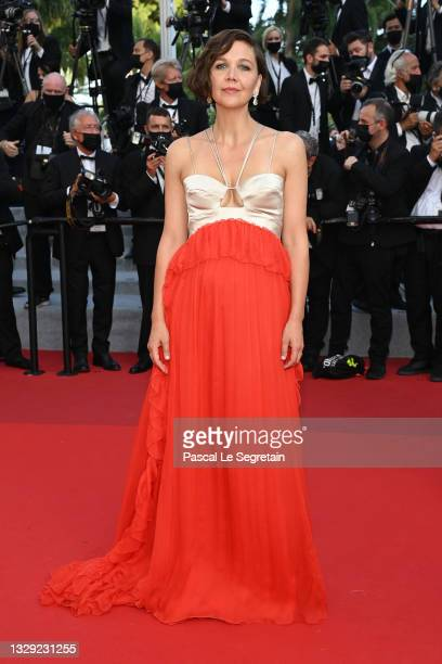 """Maggie Gyllenhaal attends the final screening of """"OSS 117: From Africa With Love"""" and closing ceremony during the 74th annual Cannes Film Festival on..."""