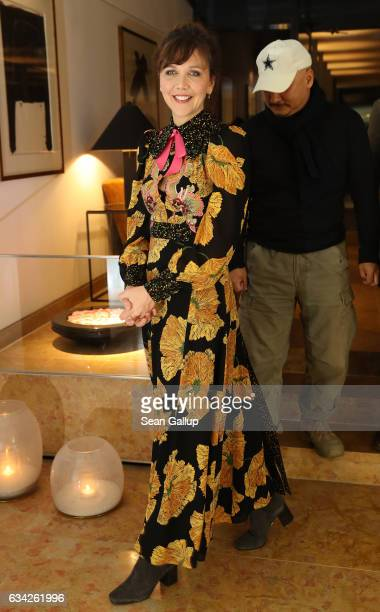 Maggie Gyllenhaal attends the International Jury photo call during the 67th Berlinale International Film Festival Berlin at Hotel Mandala on February...