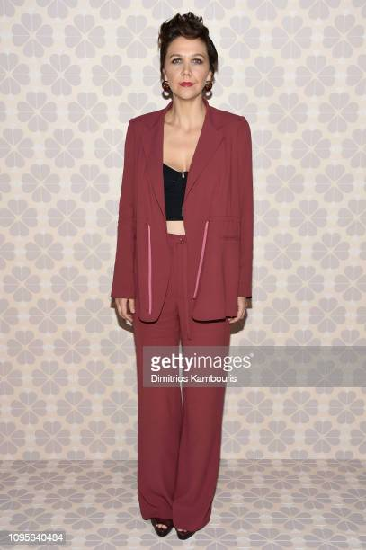 Maggie Gyllenhaal attends the Kate Spade Fashion Show during New York Fashion Week at Cipriani 25 Broadway on February 8, 2019 in New York City.