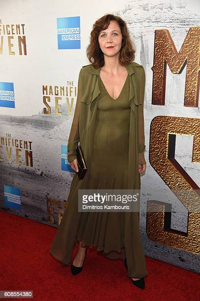 Maggie Gyllenhaal attends 'The Magnificent Seven' premiere at Museum of Modern Art on September 19 2016 in New York City