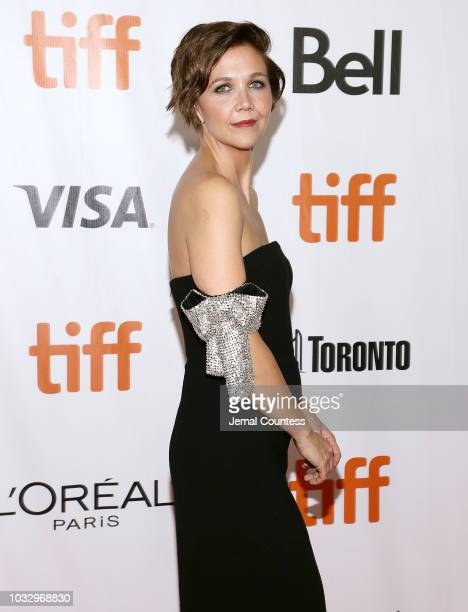 Maggie Gyllenhaal attends the premiere of The Kindergarten Teacher at Roy Thomson Hall during the 2018 Toronto International Film Festival on...