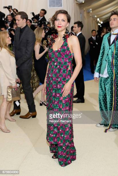 Maggie Gyllenhaal attends the 'Rei Kawakubo/Comme des Garcons Art Of The InBetween' Costume Institute Gala at Metropolitan Museum of Art on May 1...