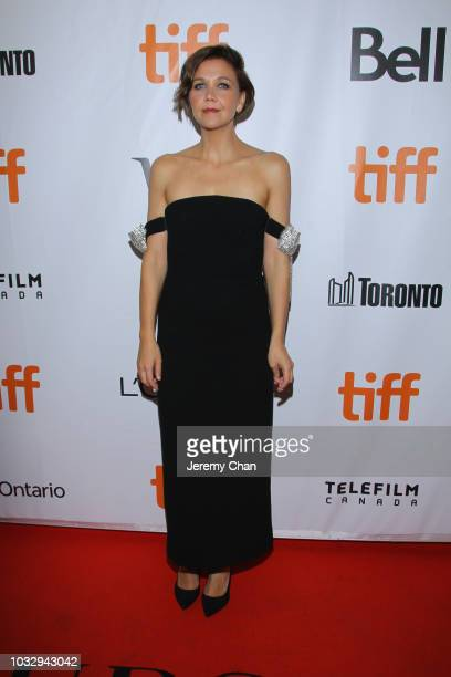 "Maggie Gyllenhaal attends the ""The Kindergarten Teacher"" premiere during 2018 Toronto International Film Festival at Roy Thomson Hall on September..."