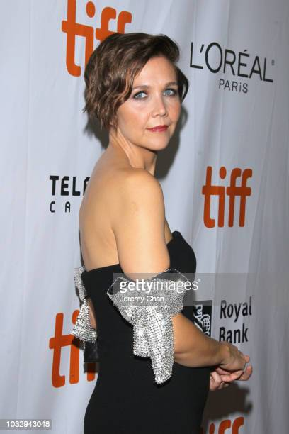 Maggie Gyllenhaal attends the The Kindergarten Teacher premiere during 2018 Toronto International Film Festival at Roy Thomson Hall on September 13...