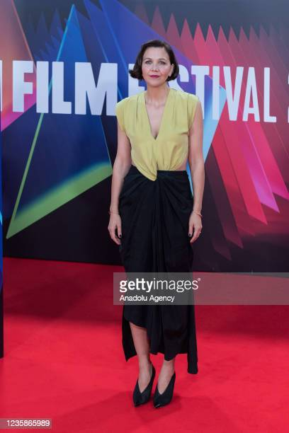 Maggie Gyllenhaal attends the UK film premiere of 'The Lost Daughter' at the Royal Festival Hall during the 65th BFI London Film Festival in London,...