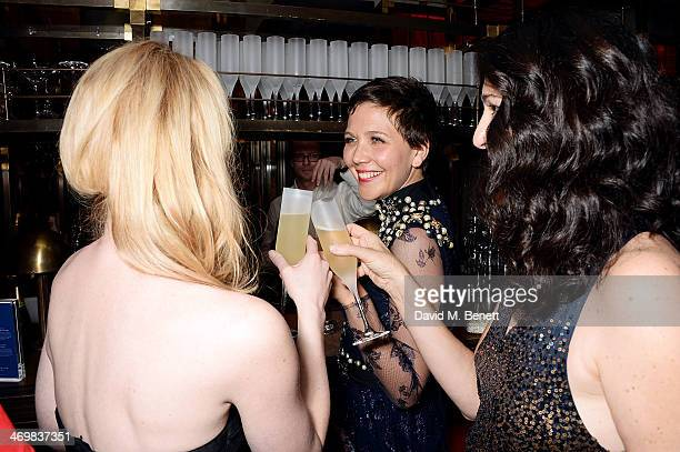 Maggie Gyllenhaal attends the Weinstein Co Entertainment and Pathe postBAFTA party hosted by Bulgari and Grey Goose at Rosewood London on February 16...