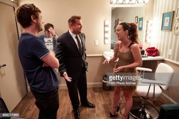 Maggie Gyllenhaal Billie Lourd and Tim Roth chat with James Corden during The Late Late Show with James Corden Wednesday September 27 2017 On The CBS...