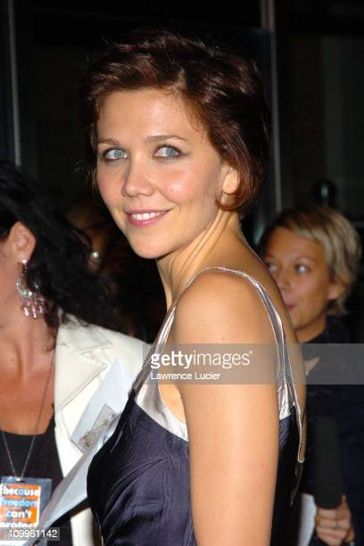 Maggie Gyllenhaal during ACLU Freedom Concert After Party Arrivals at Mandarin Oriental Hotel in New York City New York United States