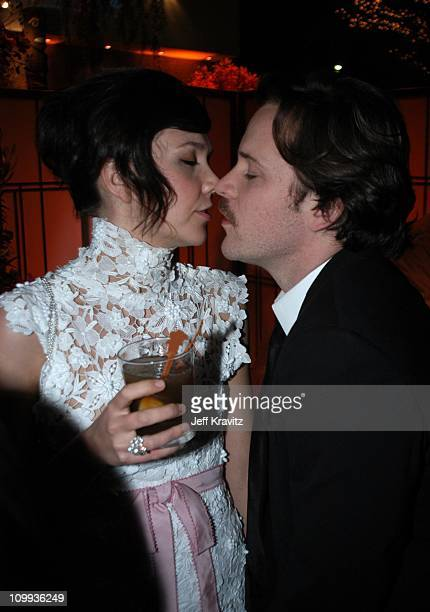 Maggie Gyllenhaal during Miramax 2003 Golden Globes Party Sponsored by Glamour Magazine and Coors at Trader Vic's in Beverly Hills CA United States