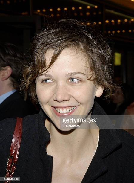 Maggie Gyllenhaal during Opening Night of Jumpers Arrivals at Brooks Atkinson Theater in New York City New York United States