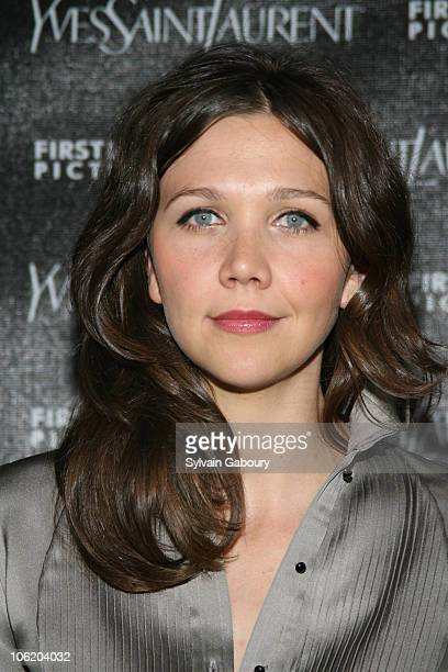 Maggie Gyllenhaal during 'Paris Je T'aime' Yves Saint Laurent New York Premiere Arrivals at Paris Theatre at 4 West 58th Street in New York City New...