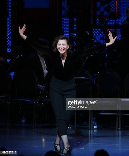 Maggie Gyllenhaal during the Curtain Call for the Roundabout Theatre Company presents a OneNight Benefit Concert Reading of 'Damn Yankees' at the...
