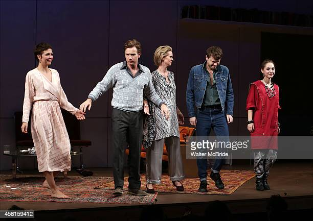Maggie Gyllenhaal Ewan McGregor Cynthia Nixon Ronan Raftery and Madeline Weinstein during the Roundabout Theatre Company's Broadway Opening Night...