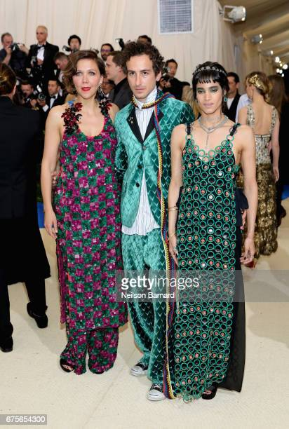 Maggie Gyllenhaal Francesco Risso and Sofia Boutella attend the 'Rei Kawakubo/Comme des Garcons Art Of The InBetween' Costume Institute Gala at...